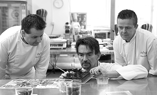 Préparation des pâtisseries Lenôtre
