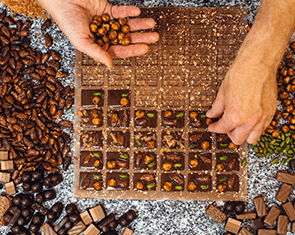 Préparation des pâtisseries chocolat